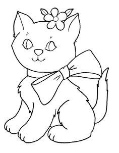 236x303 Pussy Cat Animal Coloring Page For Kids, Animal Coloring Pages