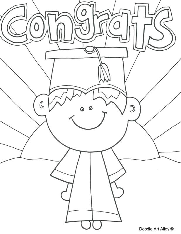 Pre K Graduation Coloring Pages