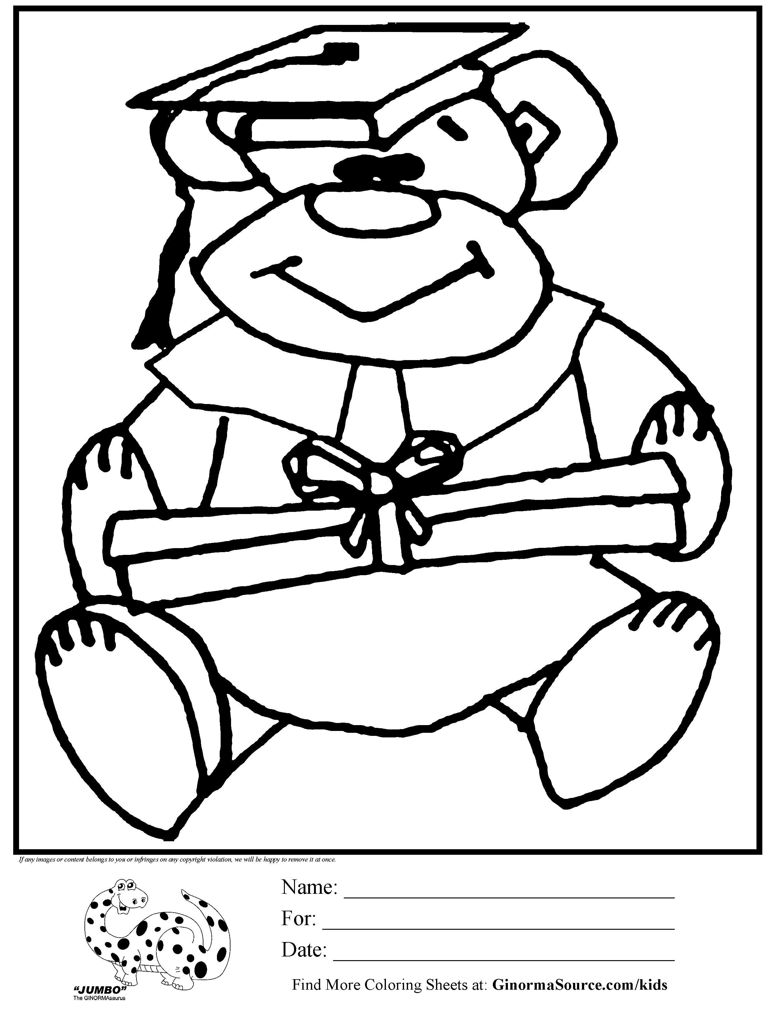 Pre K Graduation Coloring Pages at GetDrawings | Free download