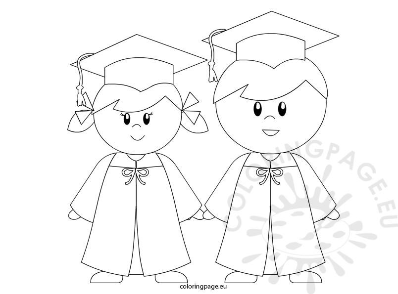 804x595 Kindergarten Graduation Coloring Page For Preschool