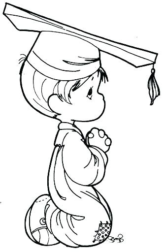 333x512 Outstanding Graduation Cap Coloring Page Graduation Coloring Pages