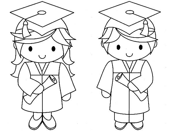 Pre K Graduation Coloring Pages At Getdrawings Com Free For