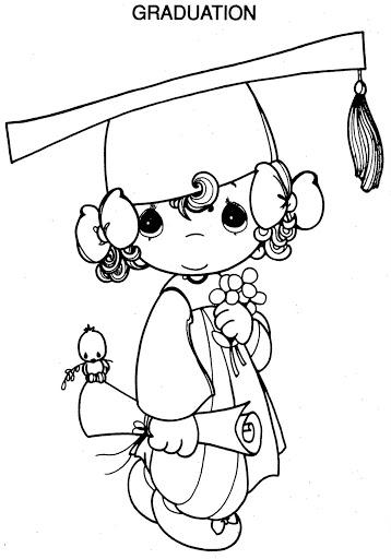 358x512 Preschool Graduation Coloring Pages Graduation Precious Moments