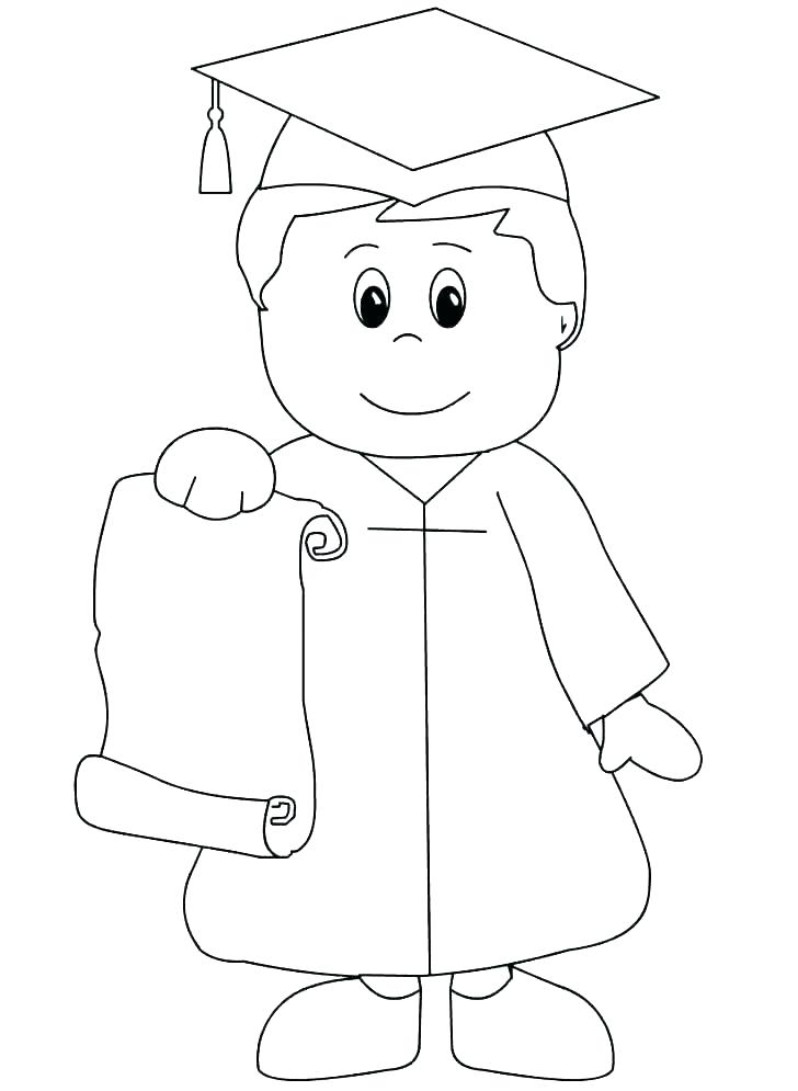728x995 Graduation Cap Coloring Page Graduation Coloring Pages Preschool