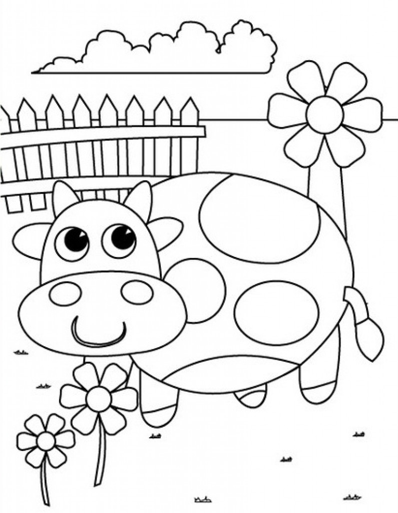 795x1024 Pre K Coloring Pages Printables Prepossessing Kindergarten