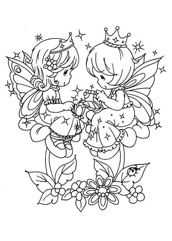 600x840 Precious Moments Angels Coloring Pages