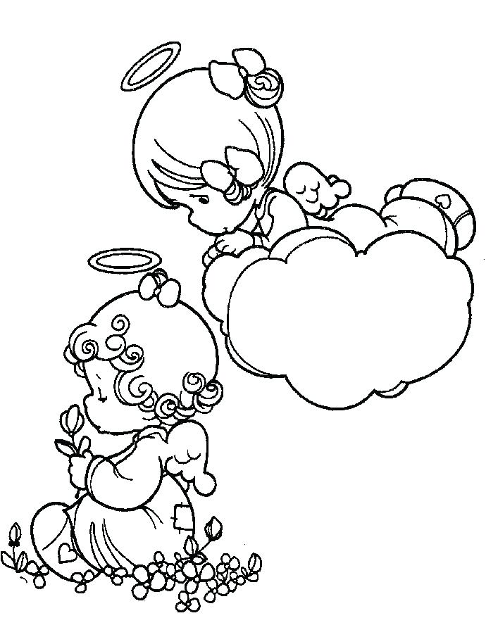 690x905 Precious Moments Angels Coloring Pages Angel Precious Moments