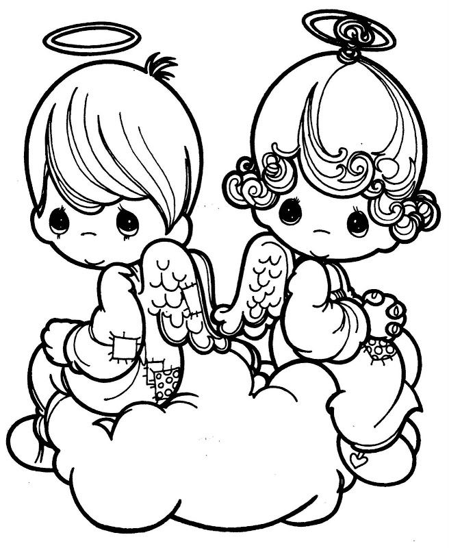 656x800 Best Angel Precious Moments Coloring Pages Free Printable