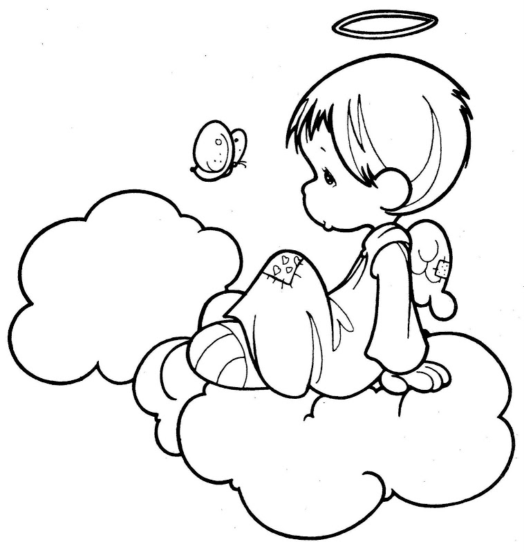 758x800 Coloring Pages Of Baby Angels Ba Angel Coloring Pages