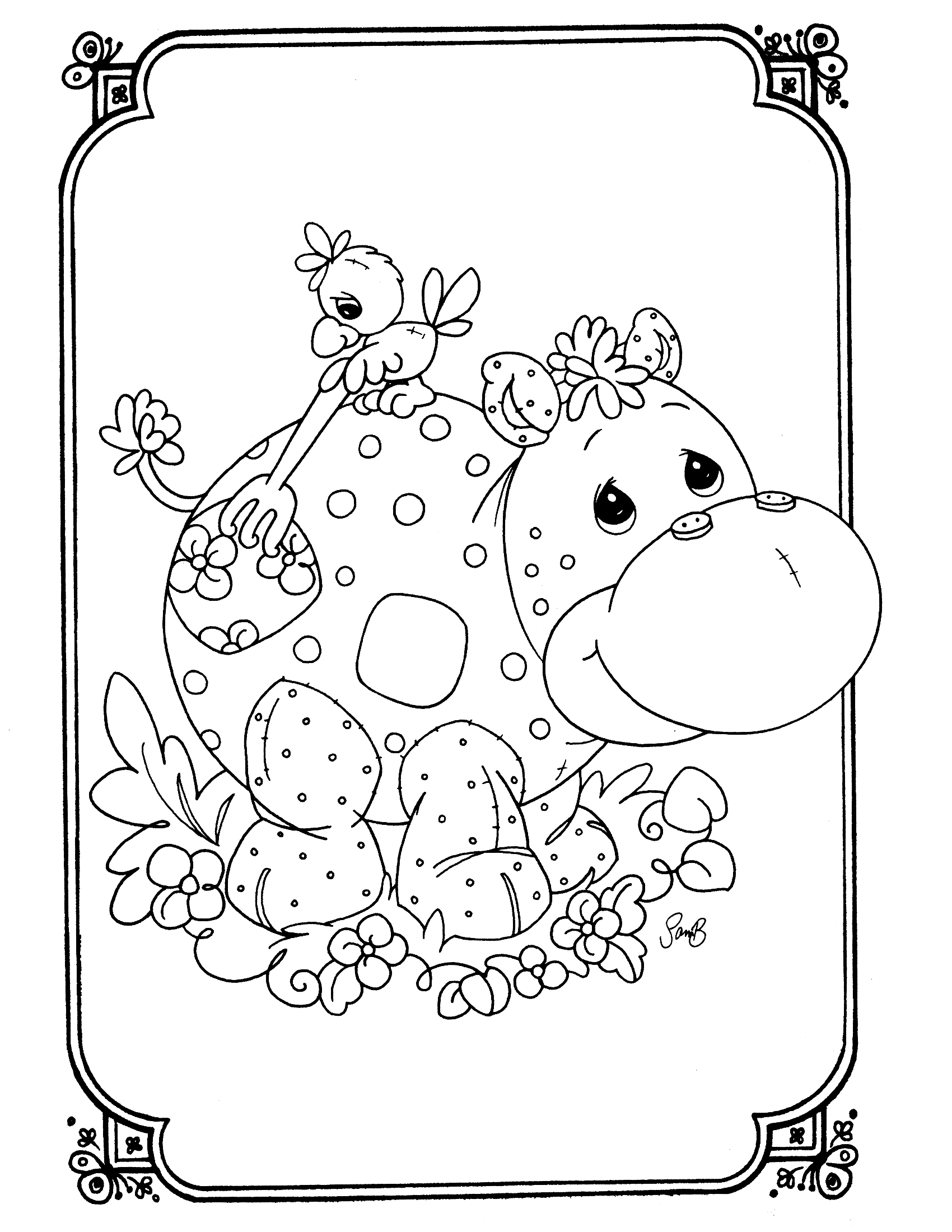 1700x2200 Precious Moments Animals Coloring Pages