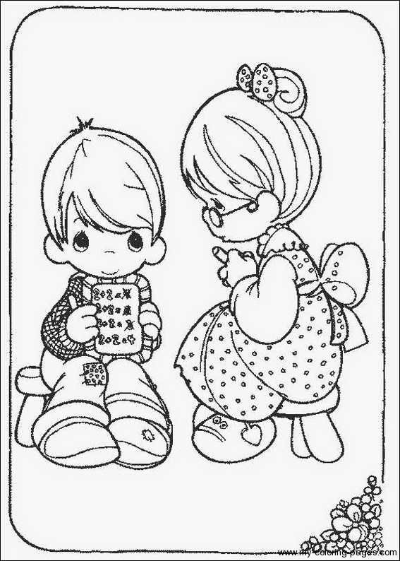 567x794 Precious Moments Animals Coloring Pages With Precious Moments