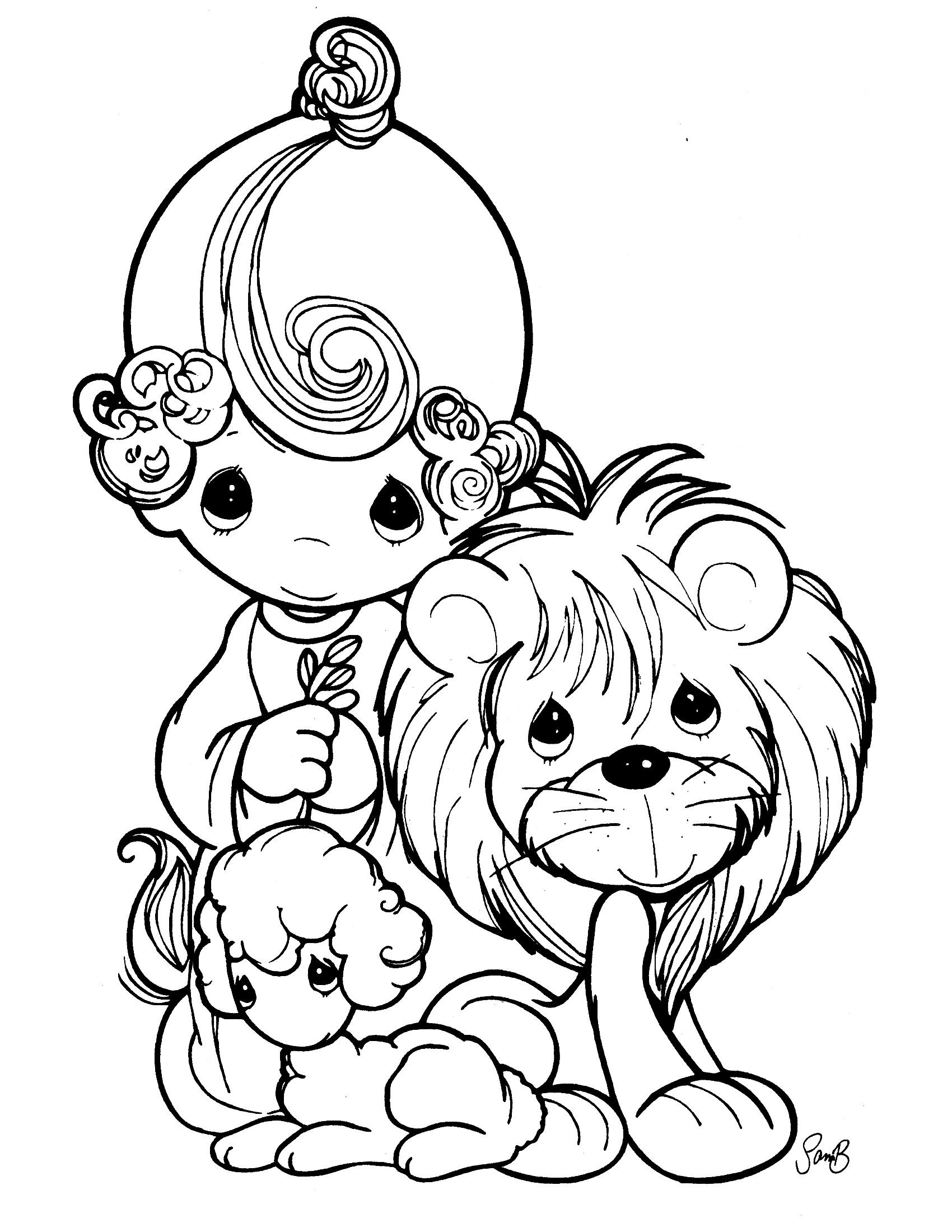1700x2200 Precious Moments Animals Coloring Pages Adorable Printable Acpra