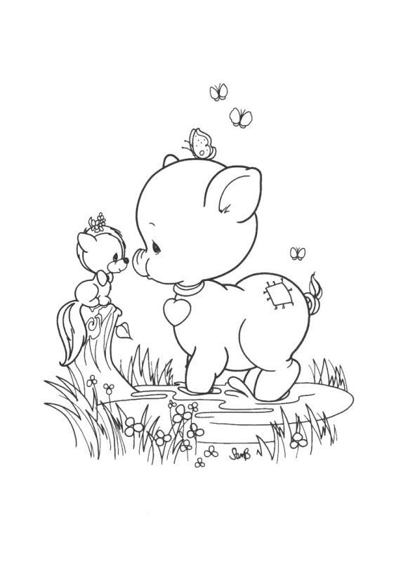 581x800 Precious Moments Animals Coloring Pages Hicoloringpages Coloring