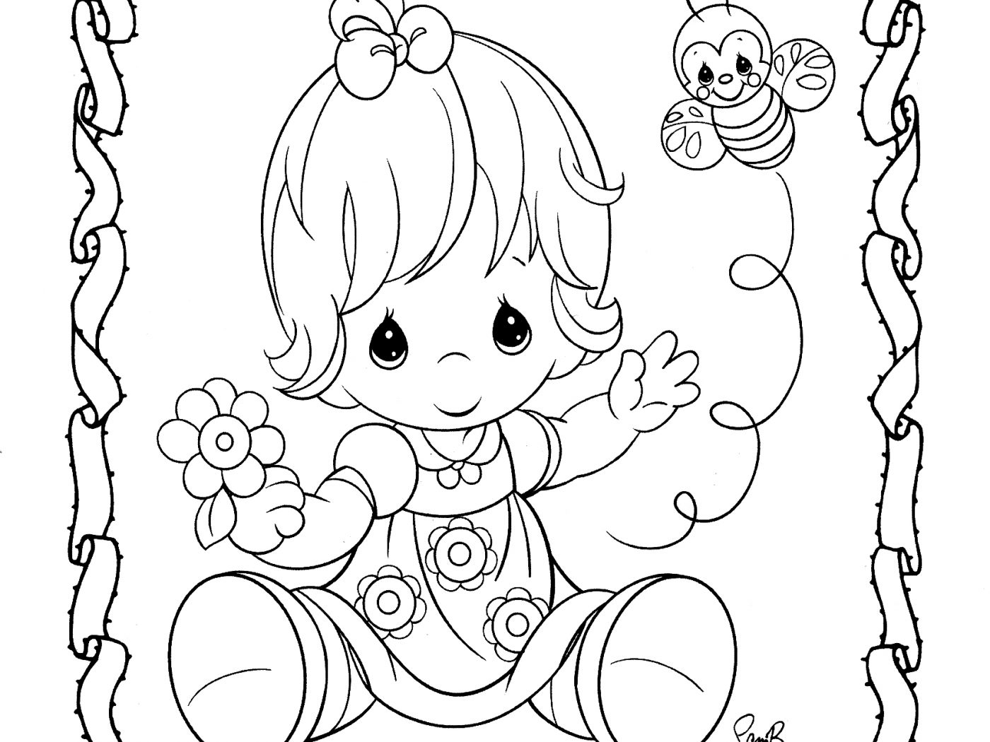 1400x1050 Precious Moments Baby Shower Coloring Pages Free Printout And Page