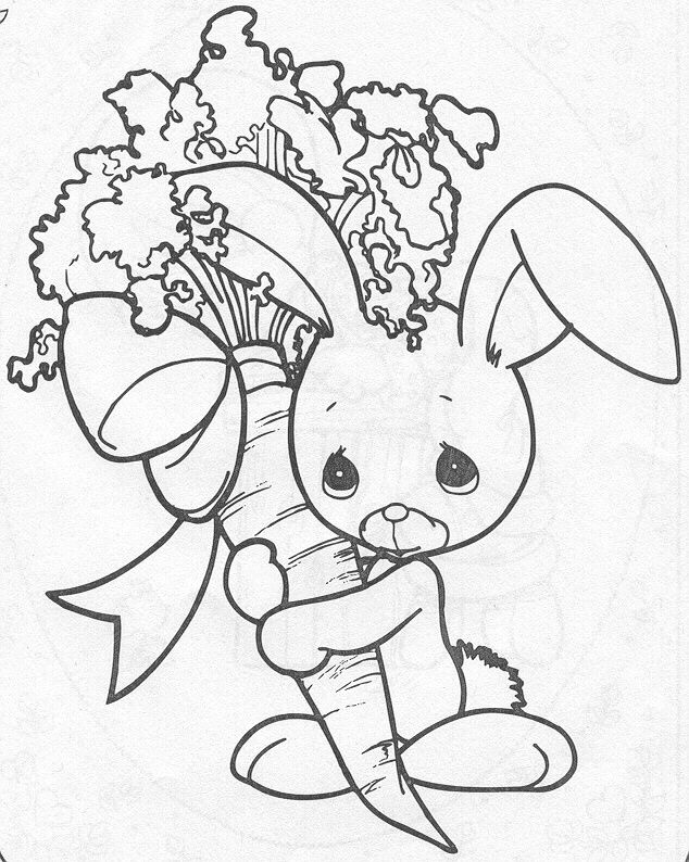 634x794 Precious Moments Coloring Pages Precious Moments Animals, Rabbit