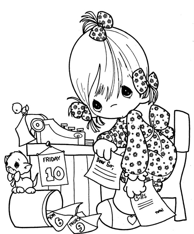 663x800 Coloring Pages September Digi Stamps
