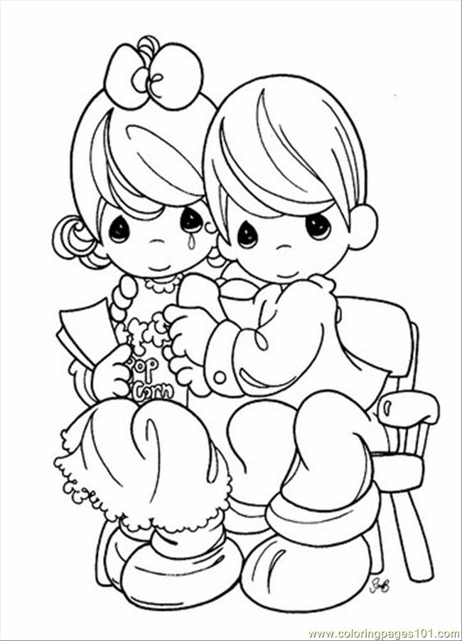 650x900 Free Precious Moments Coloring Pages
