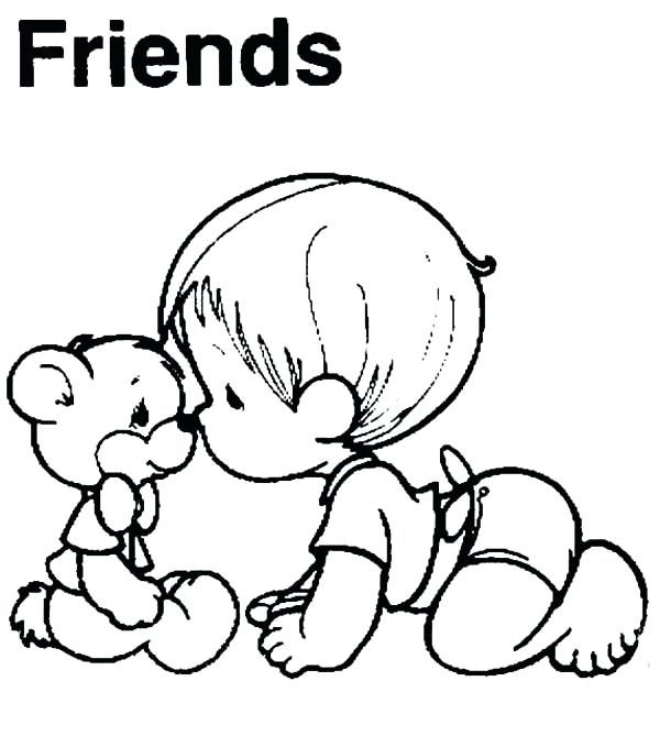 600x679 Precious Moments Baby Coloring Pages Best Friends Coloring Pages