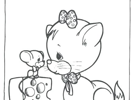 440x330 Precious Moments Baby Coloring Pages Book Boy And Girl Reads