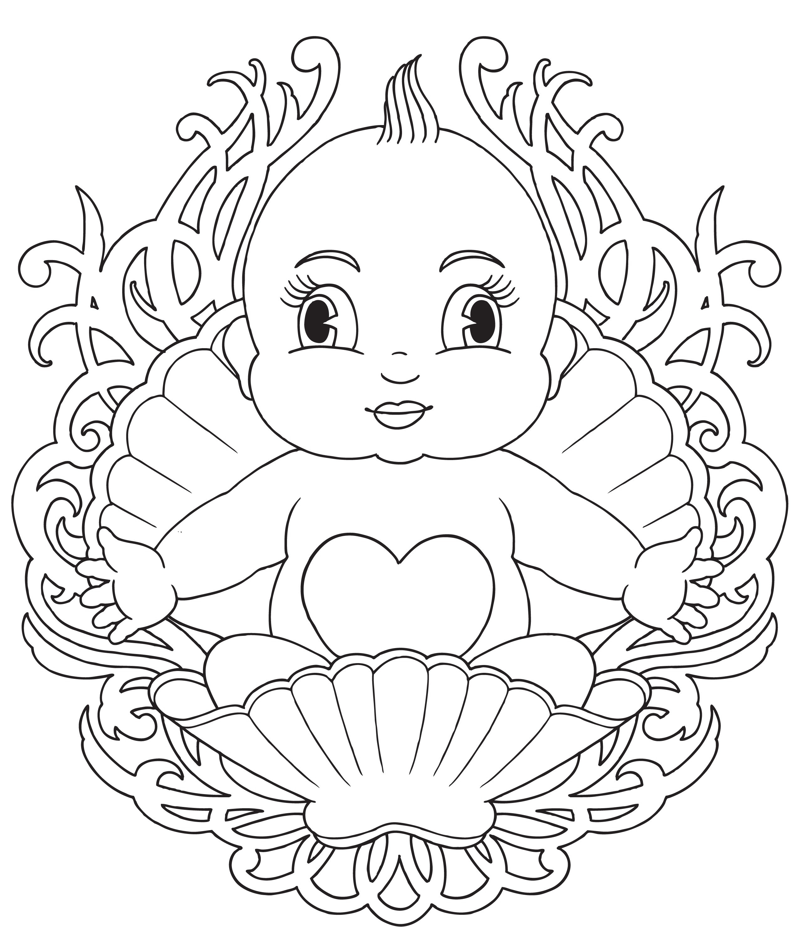 2550x2958 Precious Moments Baby Shower Coloring Pages Free Printout