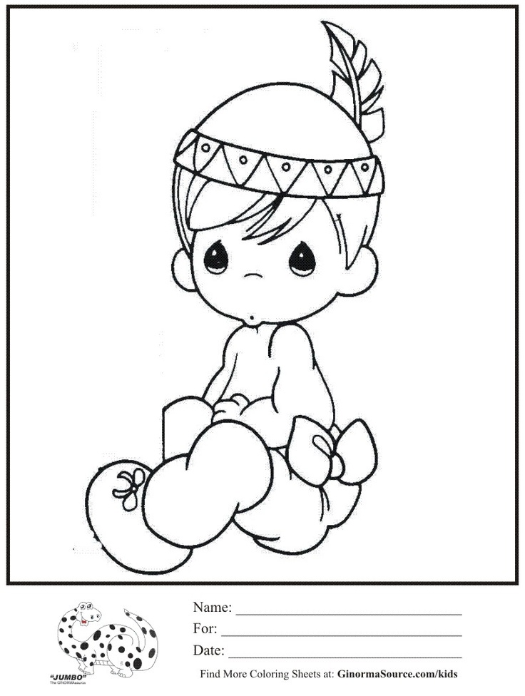 Precious Moments Baby Coloring Pages At Getdrawings