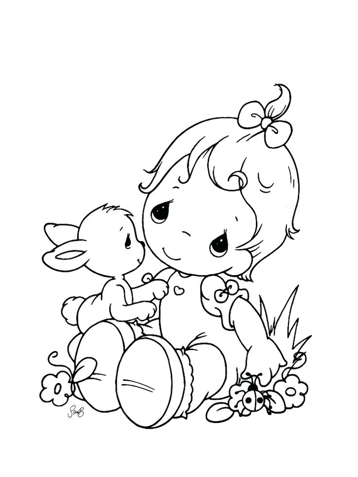 736x981 Precious Moments Baby Coloring Pages