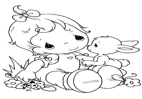 476x333 Baby Boy Coloring Pages Baby Boy Coloring Pages Precious Moments