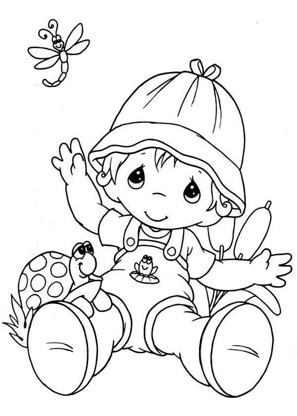 600x840 Best Precious Moments Baby Coloring Pages Free Printable