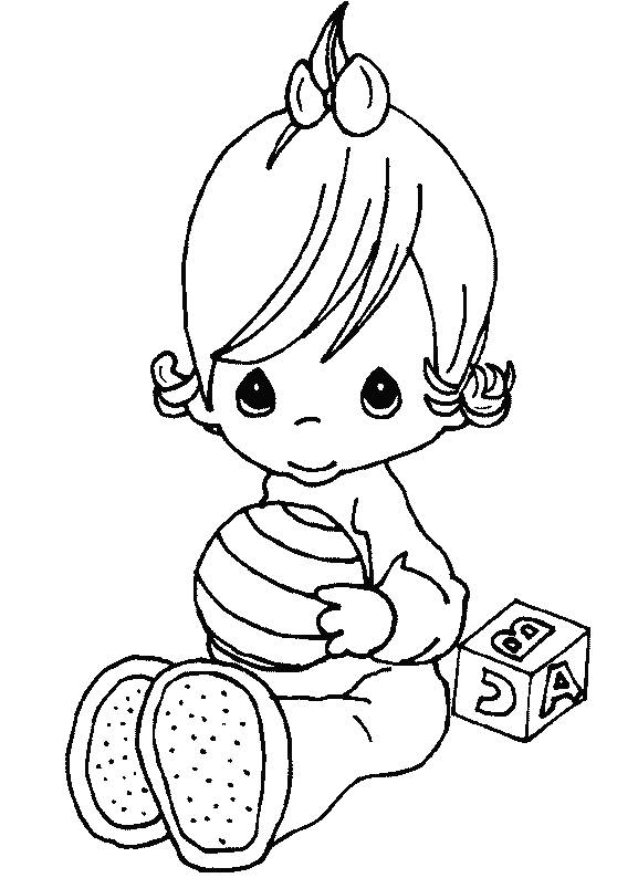 Precious Moments Baby Girl Coloring Pages
