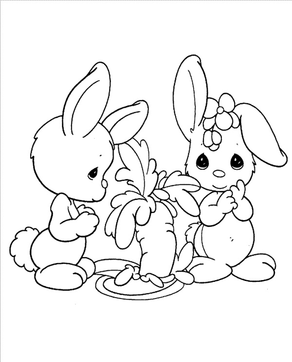 600x742 Easy Printable Precious Moments Coloring Pages