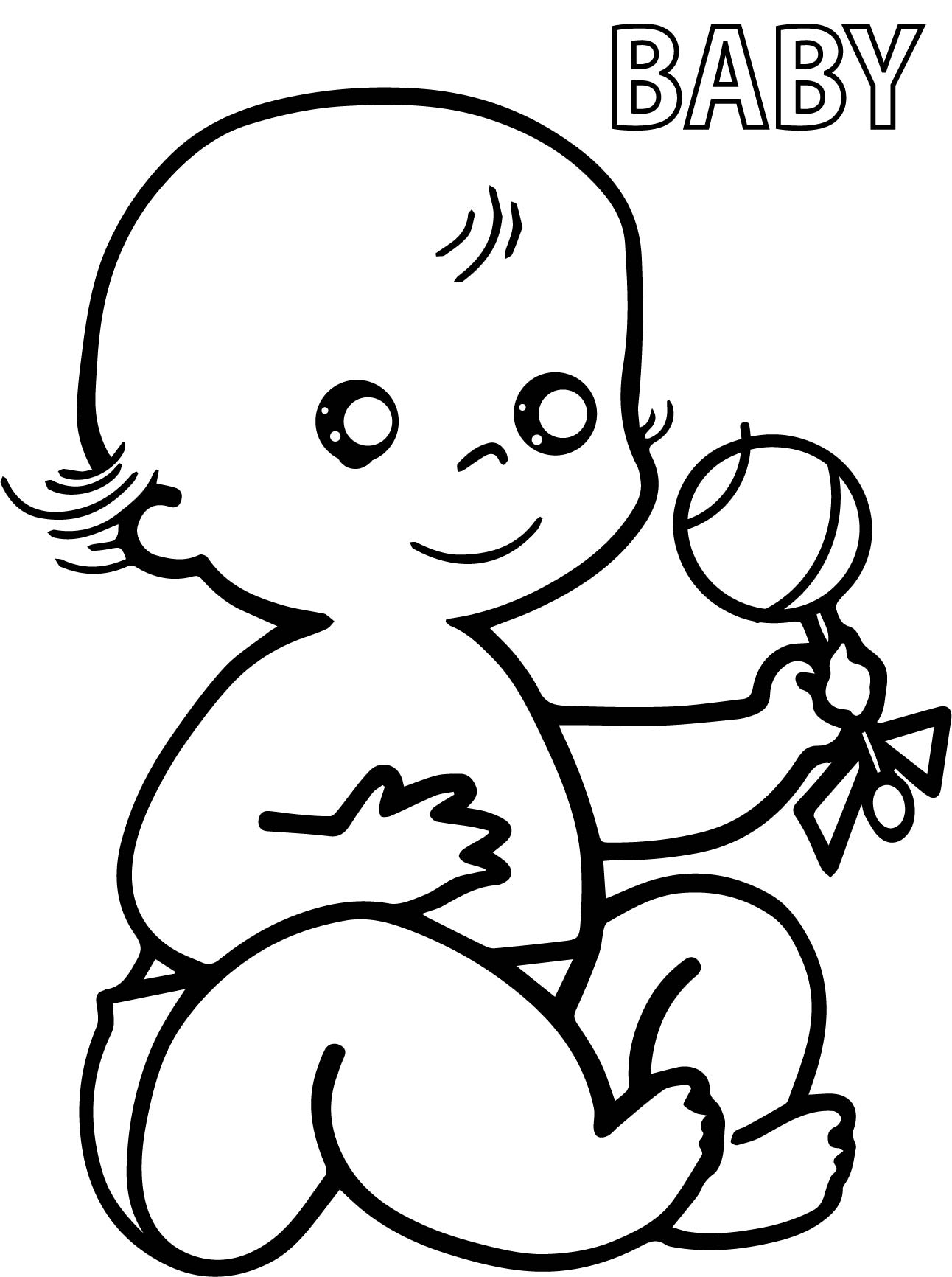 1292x1732 Free Printable Baby Coloring Pages For Toddler Kids Child To Print