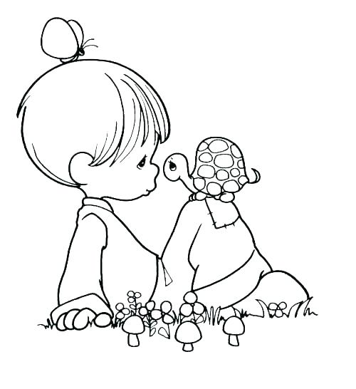 500x546 Precious Moments Baby Coloring Pages Precious Moments Birthday