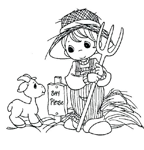 The Best Free Precious Moments Coloring Page Images Download From