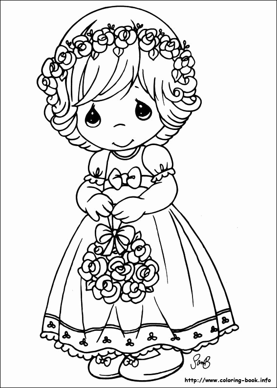 567x794 Precious Moments Coloring Picture Precious Moments Baby Girl