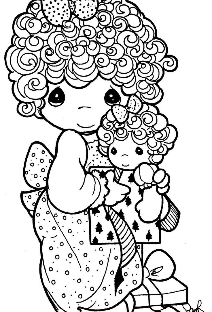 736x1080 Sweet And Simple Precious Moments Coloring Pages Womanmate Page