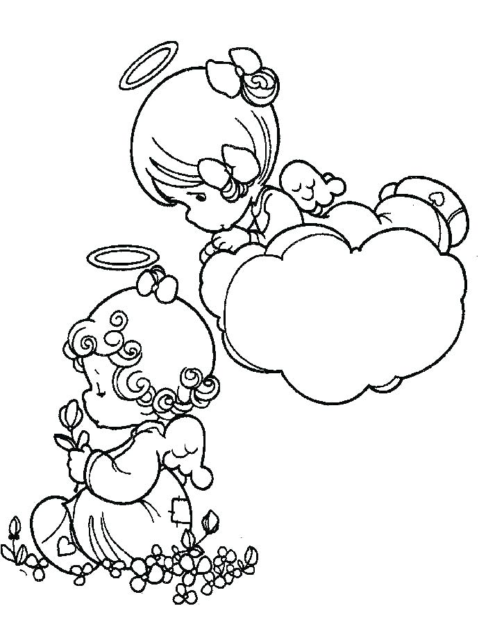 690x905 Baby Girl Coloring Pages Precious Moments Baby Coloring Pages