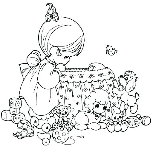 512x500 Baby Girl Precious Moments Coloring Pages Free Sheets O Little