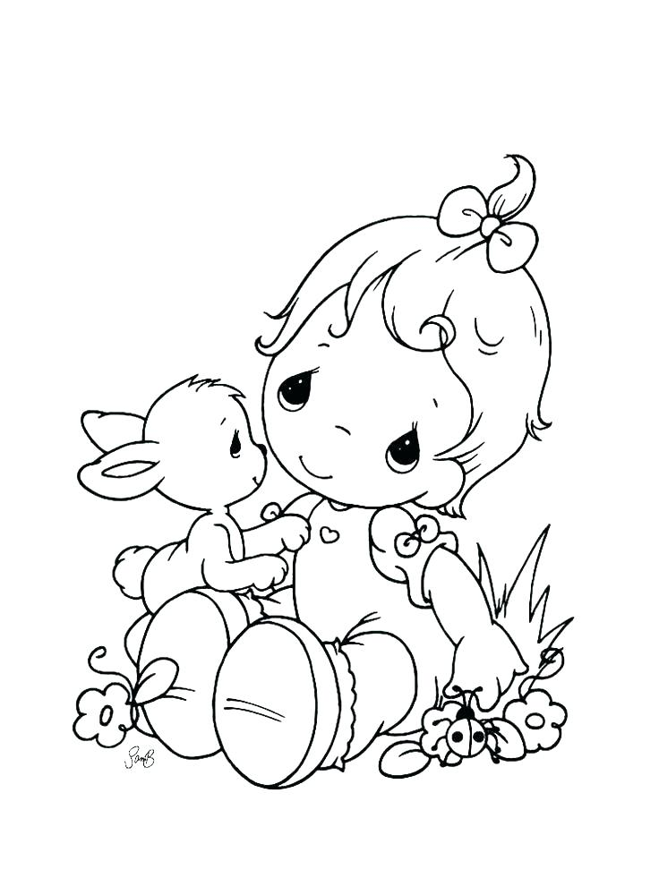 736x981 Baby Girl Shower Coloring Pages To Print New Newborn Free