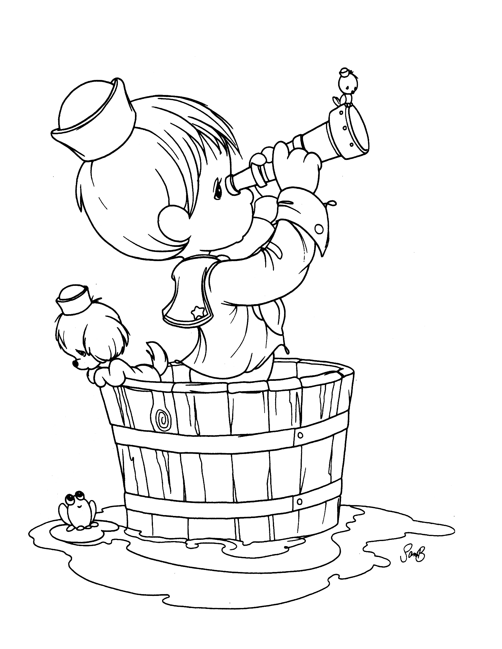 Precious Moments Boy Coloring Pages At Getdrawings Com