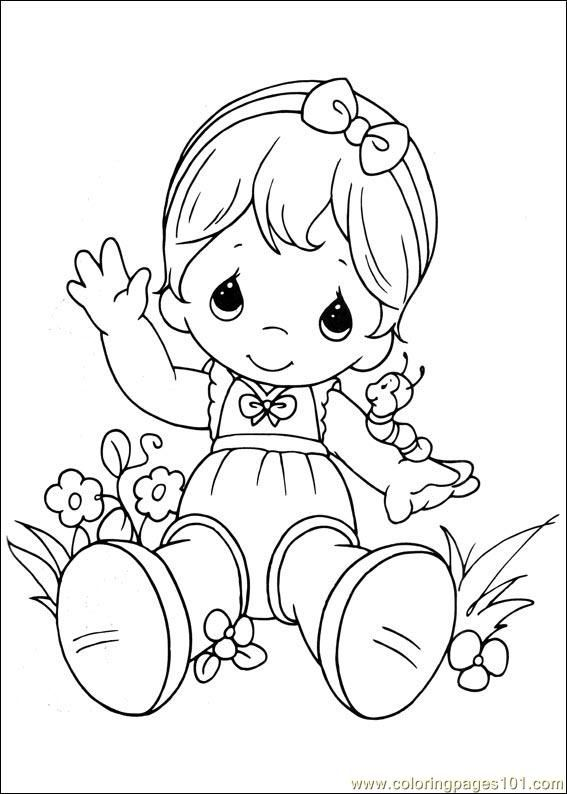 567x794 Coloring Pages Precious Moments