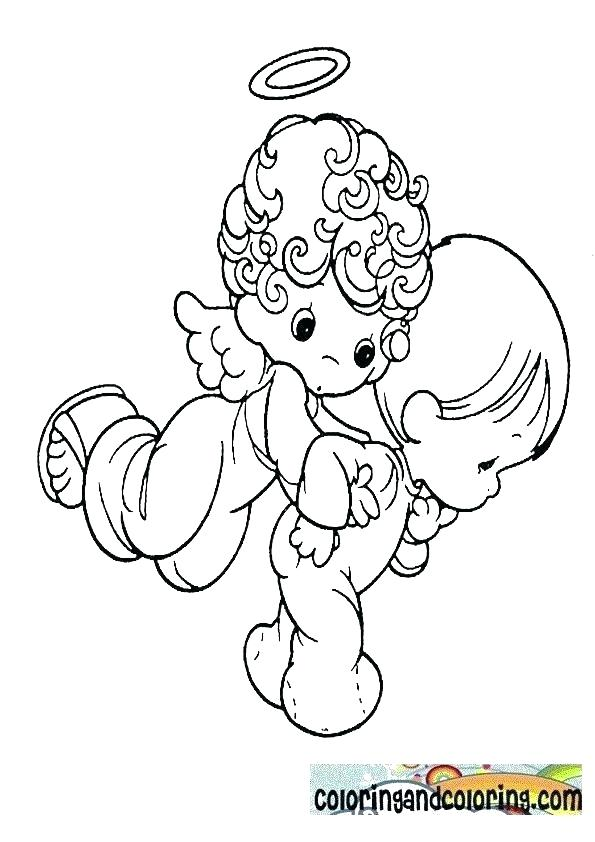 595x842 Angel Coloring Pages Free Angel Coloring Pages Precious Moments