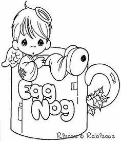 236x274 Precious Moments Christmas Tree Coloring Pages