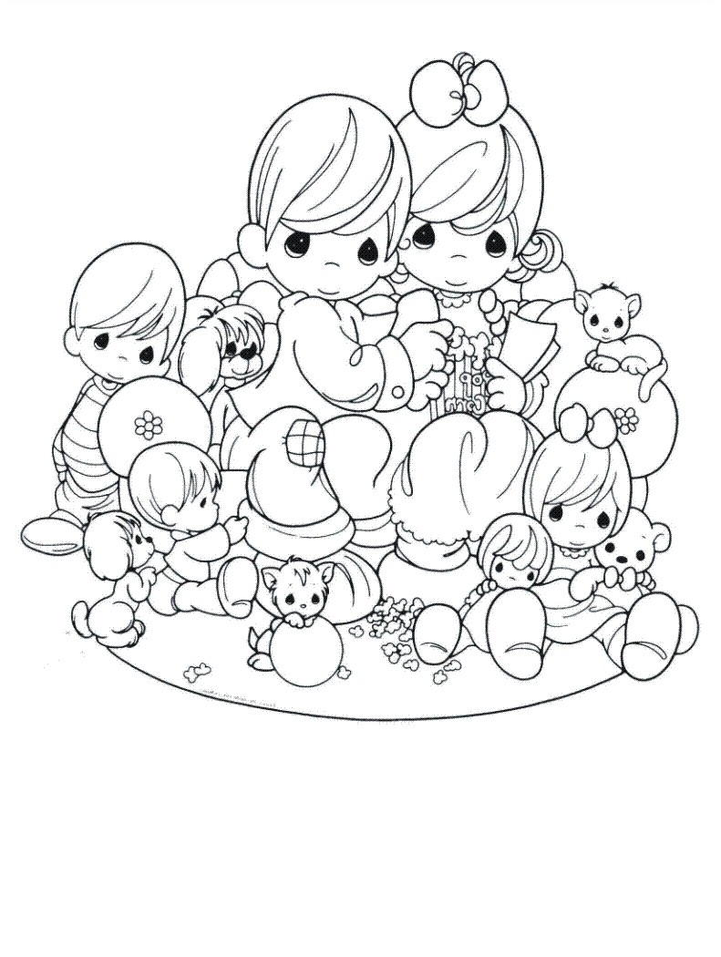 791x1050 Awesome Precious Moments Christmas Coloring Pages Coloring Baby