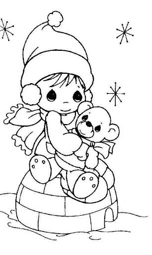 306x512 Precious Moments Christmas Coloring Pages Best Precious