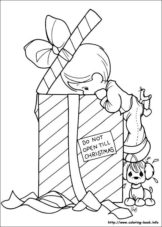 567x794 Precious Moments Coloring Pages Christmas Printable Precious