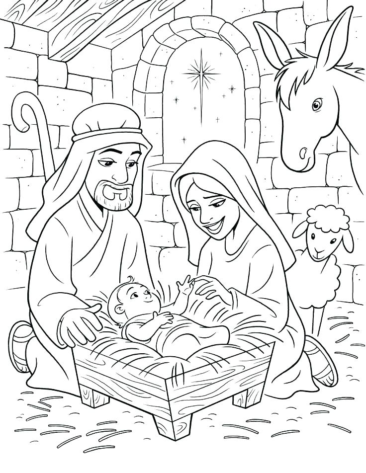 736x952 Precious Moments Nativity Coloring Pages