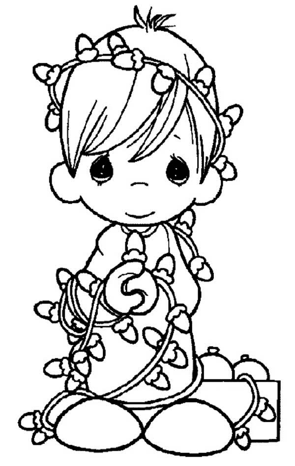600x945 Christmas Coloring Pages Precious Moments
