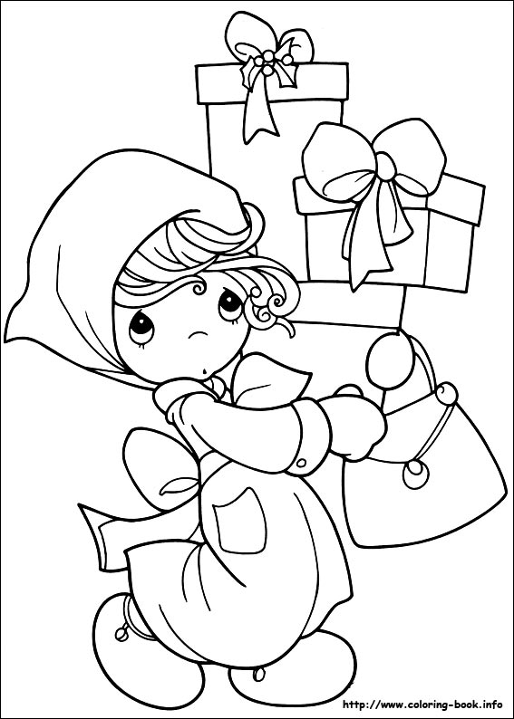 567x794 Christmas Friends Coloring Picture