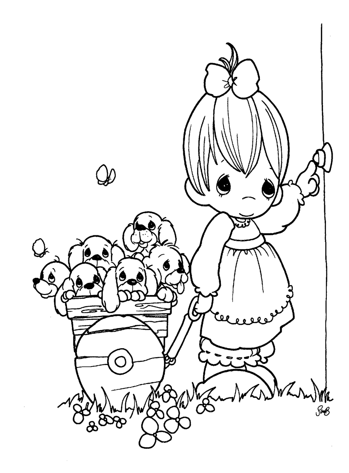 Precious Moments Coloring Pages at GetDrawings.com | Free for ...