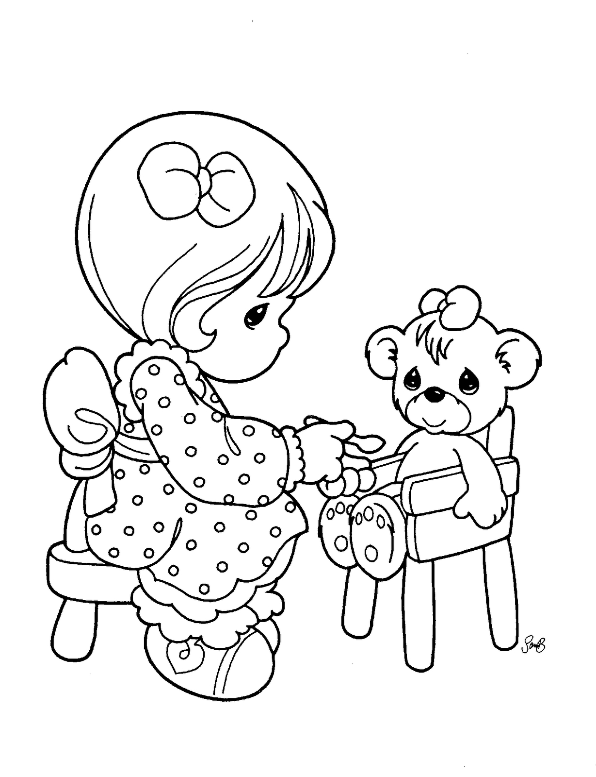 1229x1600 Precious Moments Animals Coloring Pages Download